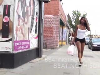 ebony transsexual walk