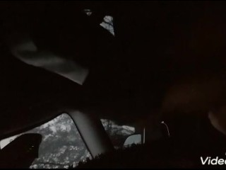fat t-girl gets fucked by thug outside in car