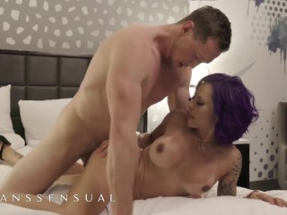 Transsensual - Purple Haired transexual fucks massive dong