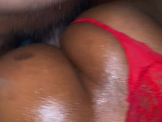 ebony Trans (Tranny) mounts that ebony penis (BBC) with cumshot