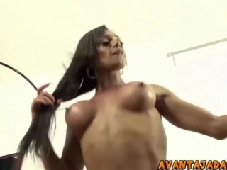 She Not That lovely . But Her Body Make Up 4 it ! Busty transexual Force poked