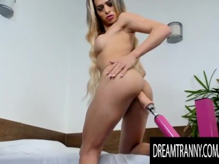 fine tranny Gabi Lins Machine Sex Leads to a Satisfying climax