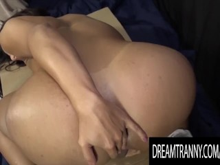 Luscious Trans Prison Officer Drika Lima ejaculates booty Bars
