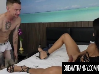 Dream ts - stud sucks off His transexual dude Compilation
