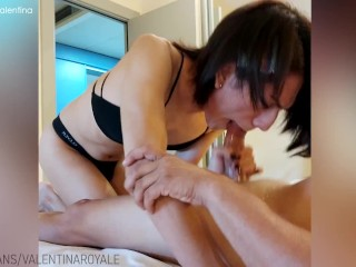 transsexual mounts the pizza delivery stud